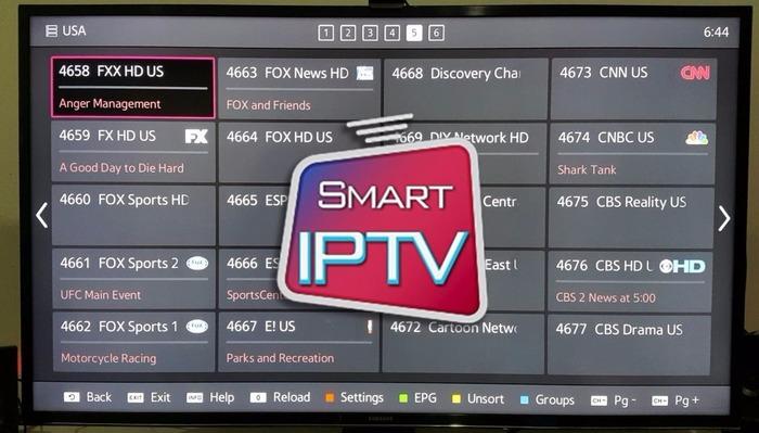 Menú de canales de SMart IPTV