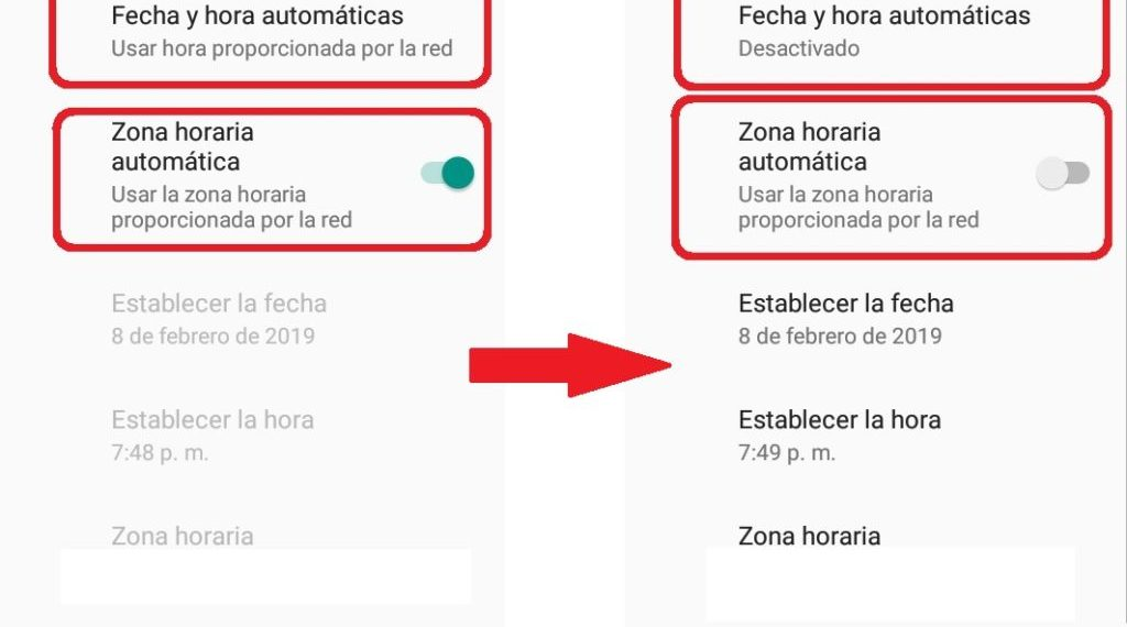 Cómo cambiar la fecha y hora de WhatsApp en Android