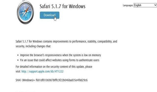 Cómo instalar Safari en Windows