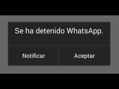 ¿Cómo solucionar cuando Whatsapp se ha detenido inesperadamente?