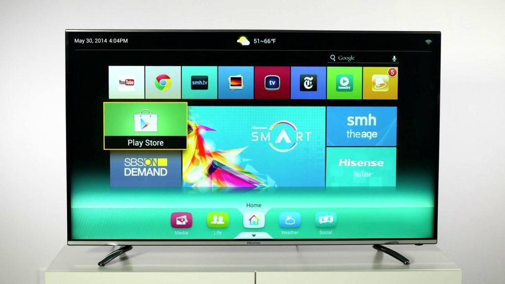 Descargar la Play Store en tu Smart TV Hisense