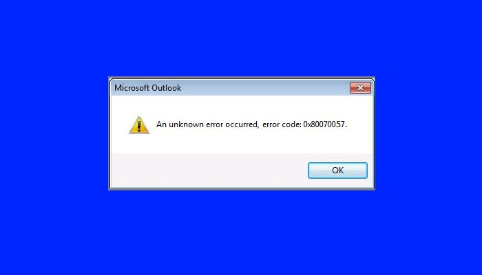 Error 0x80070057