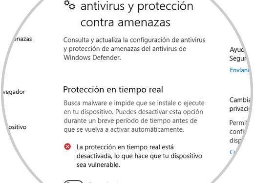 revisa el antivirus