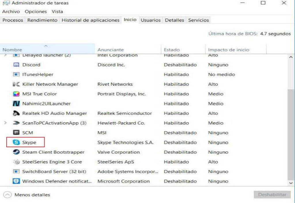 Cómo hacer que Skype no se inicie automáticamente Windows 10