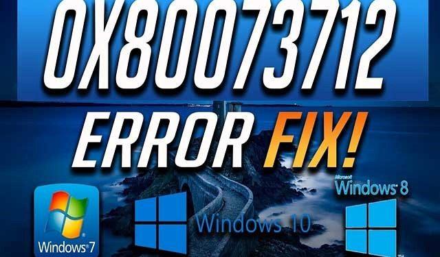 Cómo solucionar el error 0x80073712
