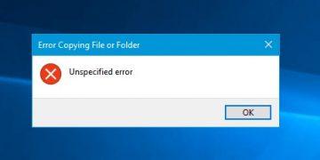 Error al copiar el archivo o la carpeta: cómo solucionarlo