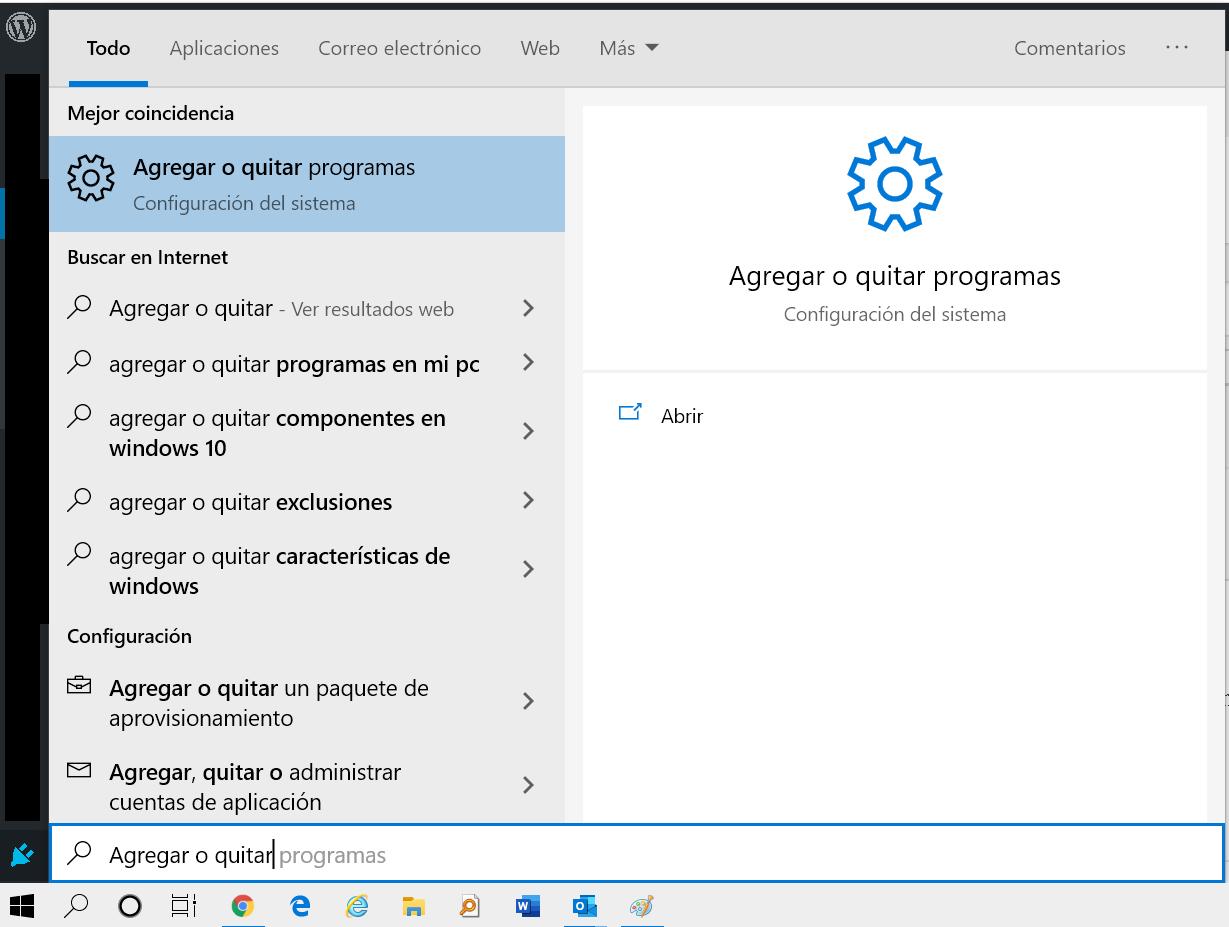 Agregar y quitar programas en Windows 10 – 🔎 Buscar Tutorial