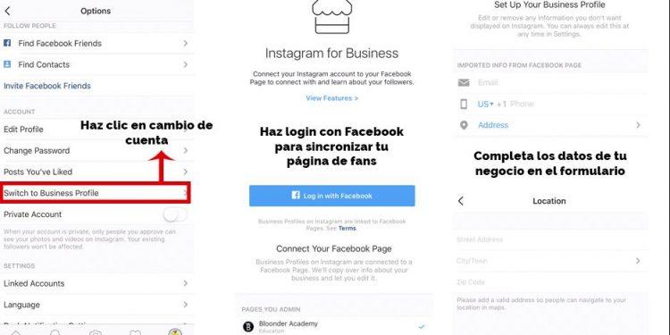 perfil comercial en instagram
