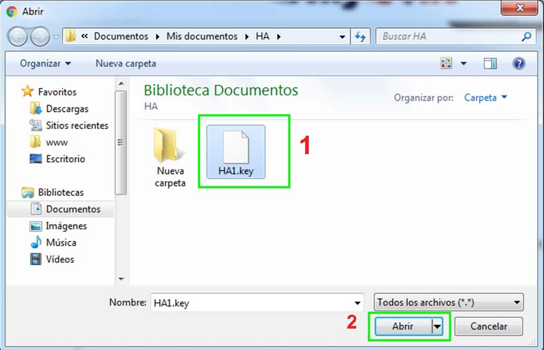 Cómo abrir archivos key en Windows