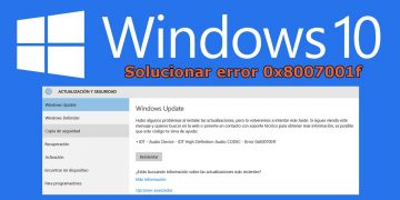 Cómo arreglar el error 0x8007001F