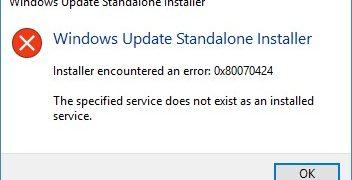 Cómo arreglar el error 0x80070424
