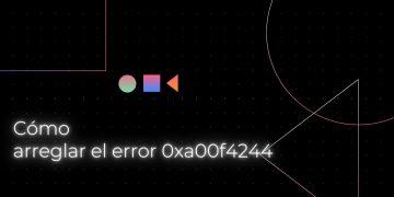 Cómo arreglar el error 0xa00f4244 de la cámara