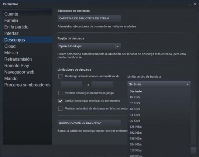 Cómo hacer que Steam descargue archivos más rápido