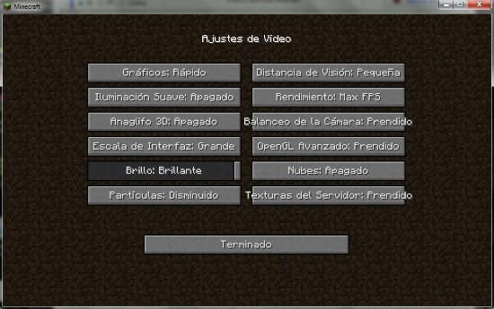 Cómo optimizar Minecraft