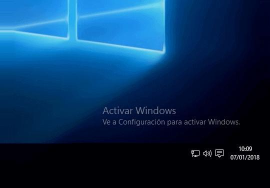 Cómo quitar marca de agua en Windows 10