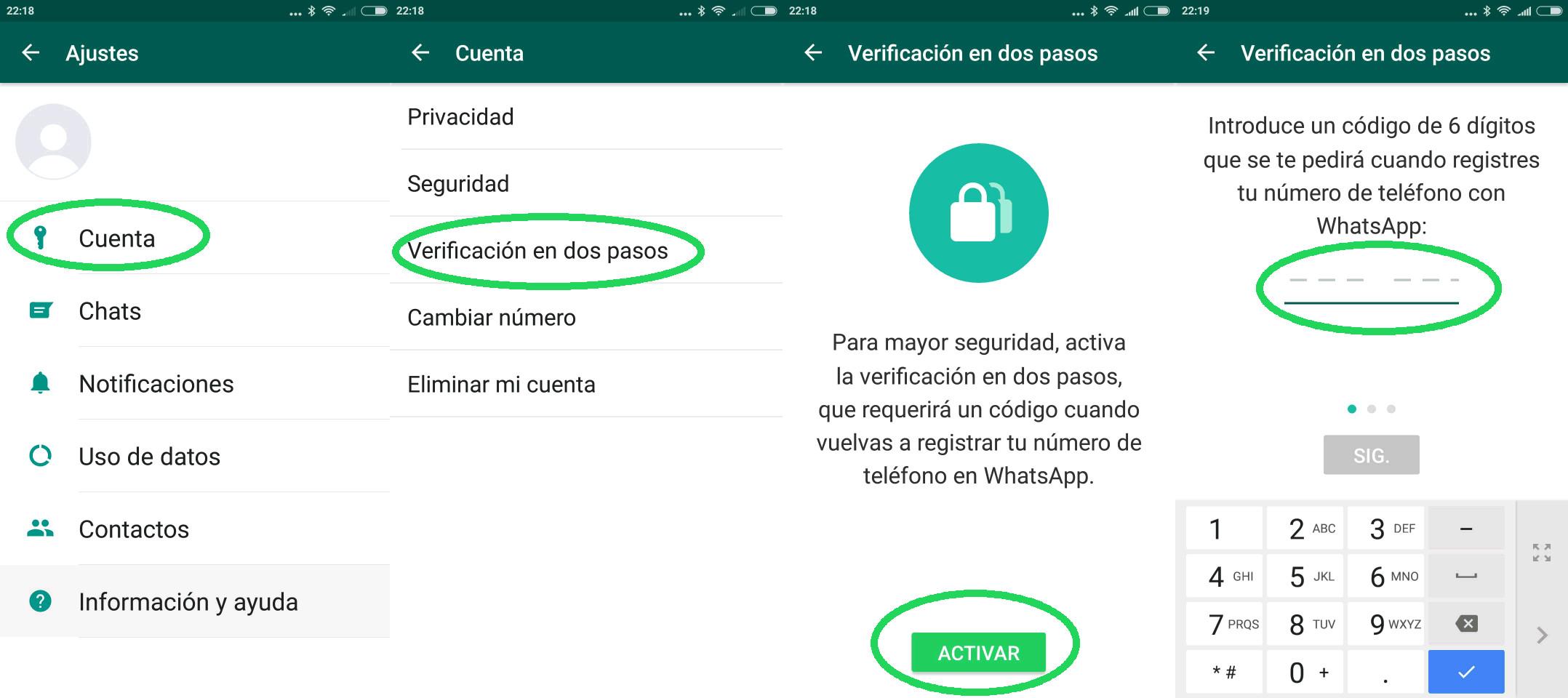 Cómo activar una cuenta de WhatsApp sin número de teléfono ni SIM