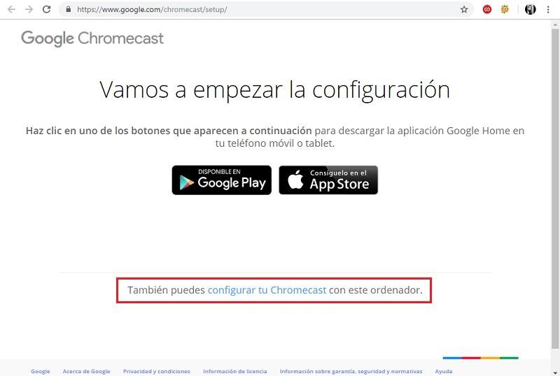 Cómo configurar Chromecast desde PC o Android
