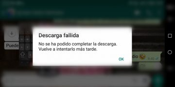 Descarga fallida en Whatsapp