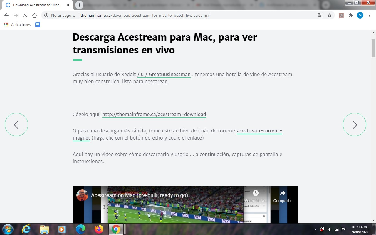 Descargar, instalar y configurar AceStream en Mac
