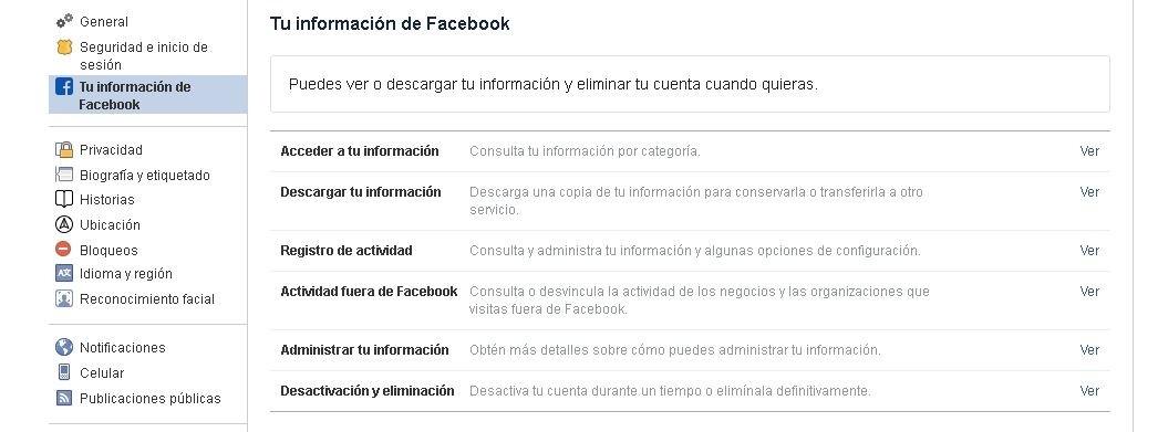 Eliminar permanentemente una cuenta de Facebook