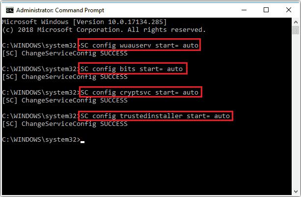 servicios asociados a Windows Update