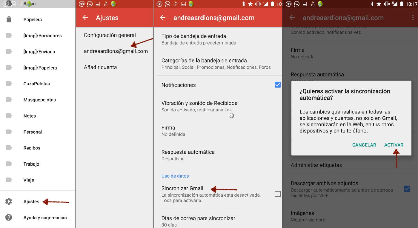 Cómo cambiar la cuenta predeterminada Gmail