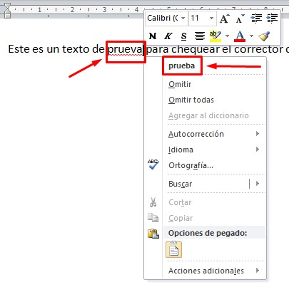 Cómo activar el corrector en Word