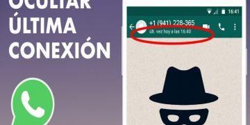 Cómo congelar u ocultar mi última conexión en WhatsApp