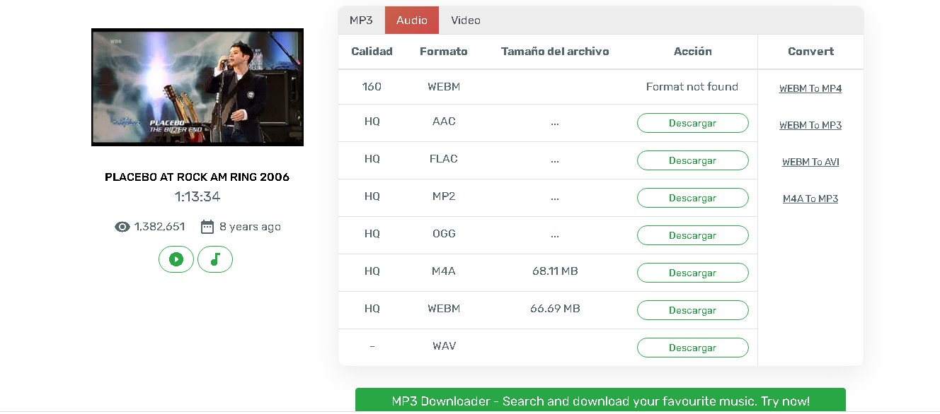 Cómo convertir de Youtube a formato WAV