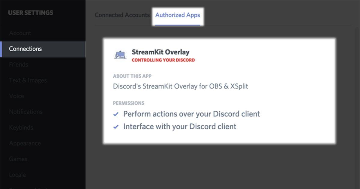 habilitar obs Modo Streamer en Discord