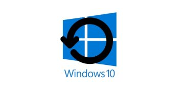 logo Windows 10 con restaruacion