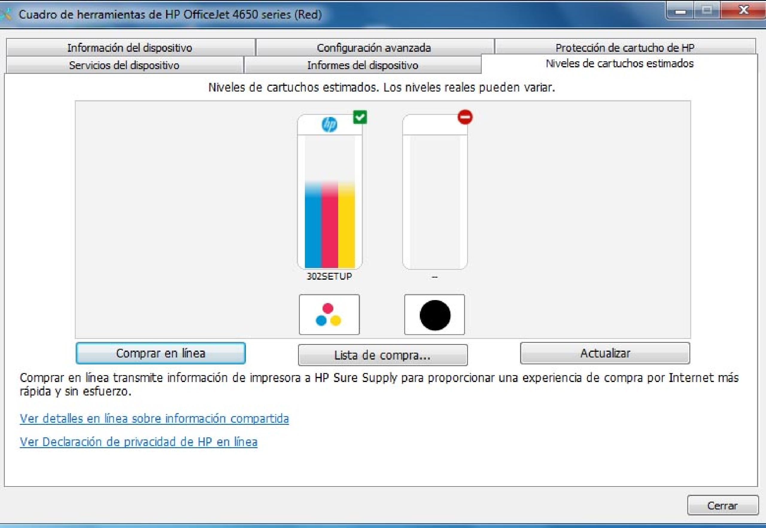 Cómo comprobar los niveles de tinta de tu impresora HP