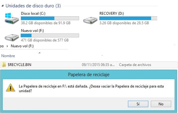 papelera windows 10