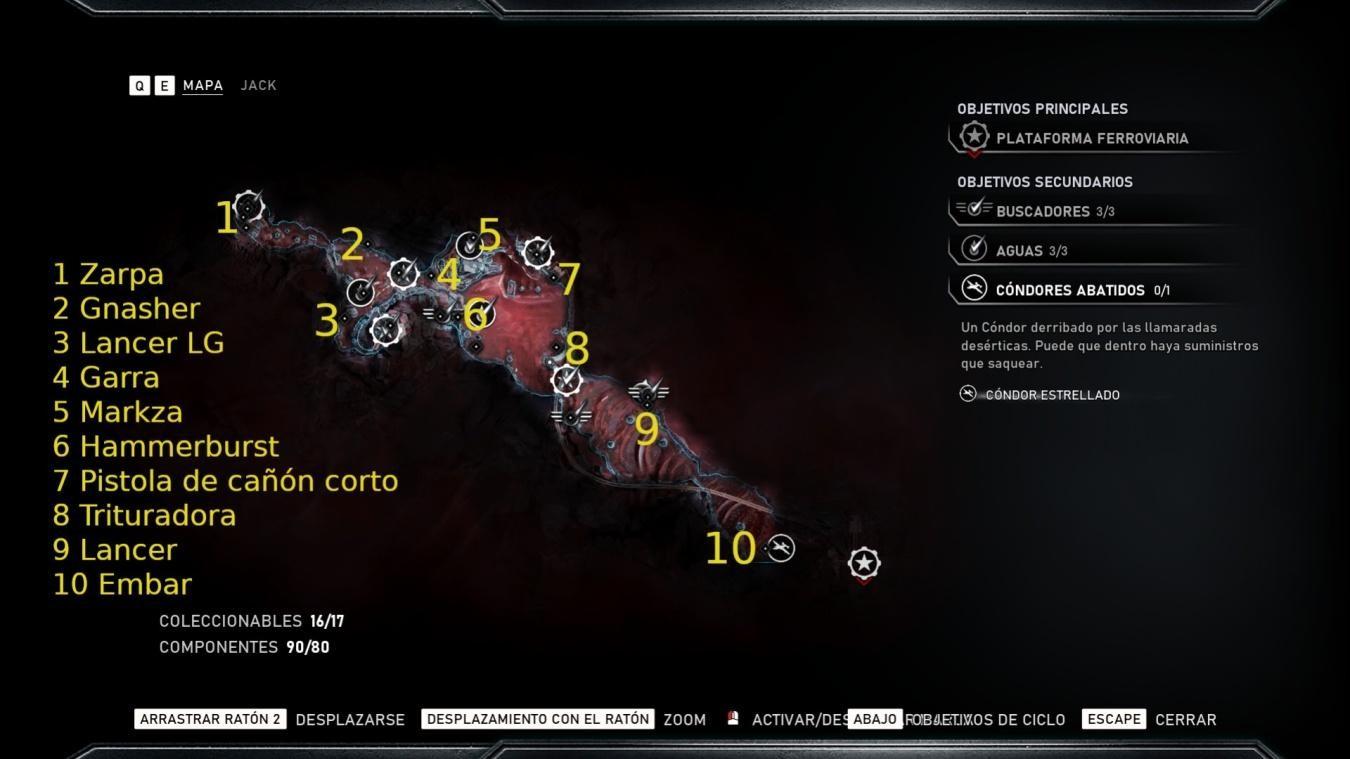 Armas Reliquia en Gears 5 – Localizaciones