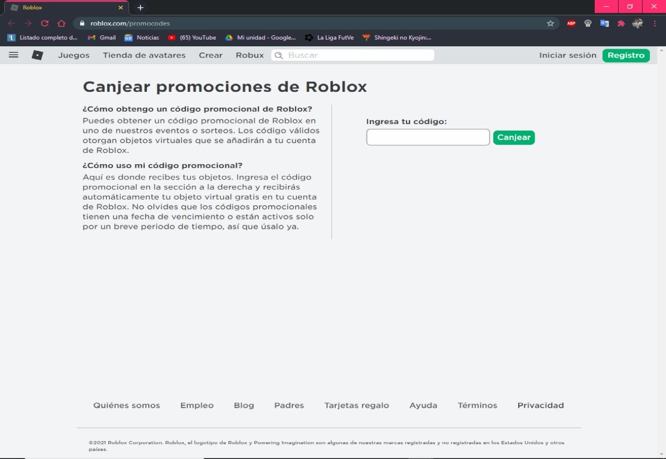 Códigos Roblox