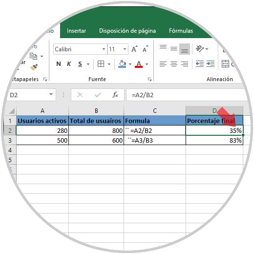 Cómo calcular porcentaje entre dos cantidades en Excel