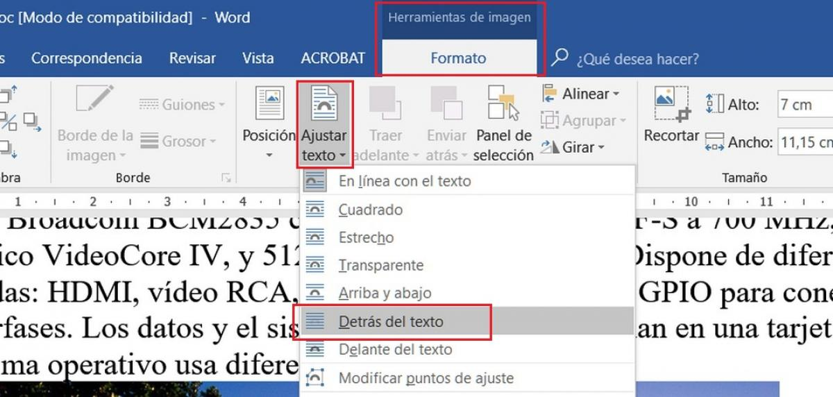 Cómo escribir o insertar texto sobre una imagen en Word