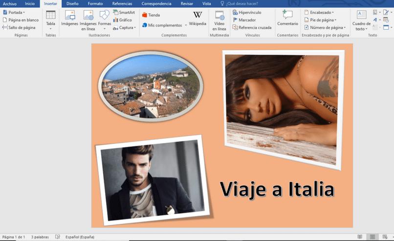 Cómo hacer un collage en Word