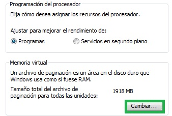 Error de Windows por falta de memoria disponible en el servidor