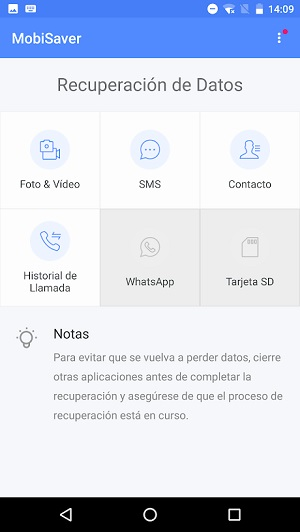 Recuperar en Android los vídeos borrados