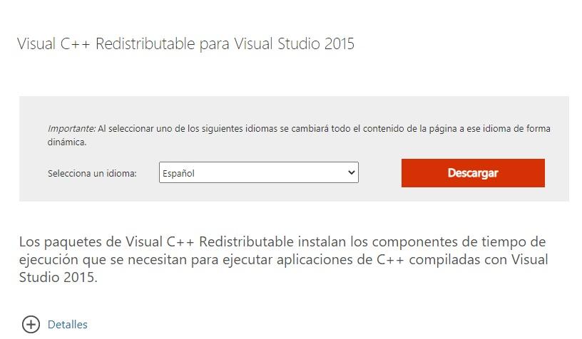 Solucionar el error Falta archivo msvcp140.dll en equipos con Windows 10