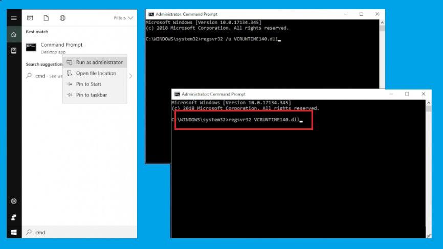 Solucionar el error falta el archivo vcruntime140.dll en Windows 10