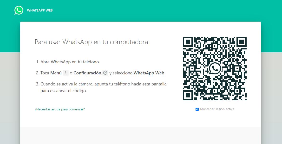 qr de whatsapp web