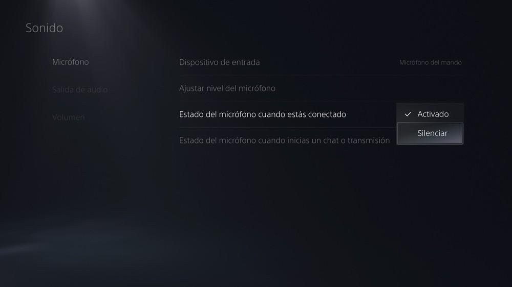 Activar y desactivar el Micrófono en PlayStation 5