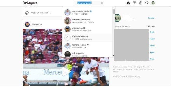 Cómo buscar personas en Instagram
