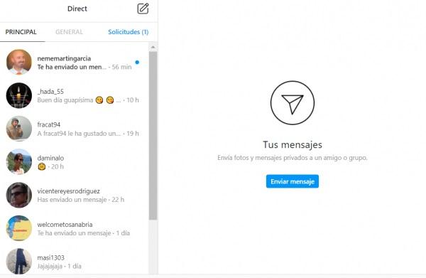 Cómo enviar un DM en Instagram desde PC