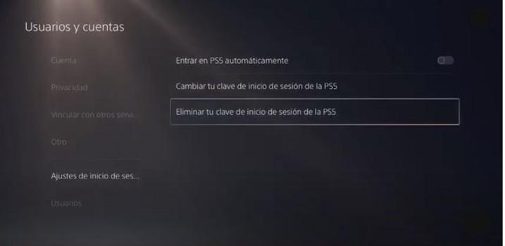Cómo poner contraseña usuario PlayStation 5