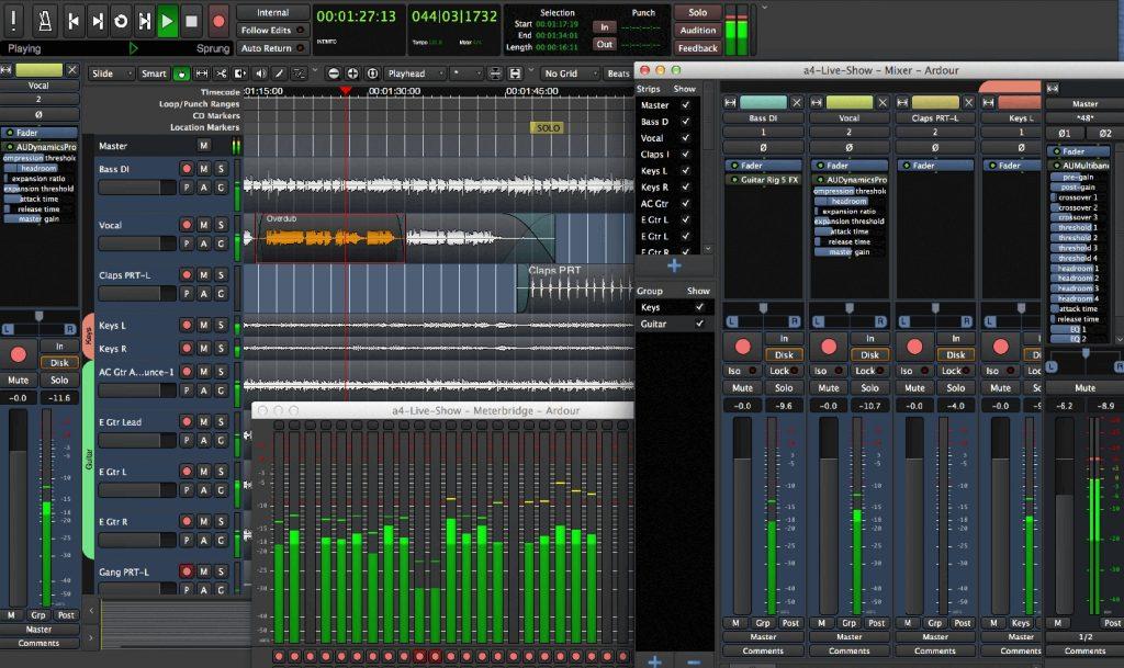 Ardour Linux, composición musical