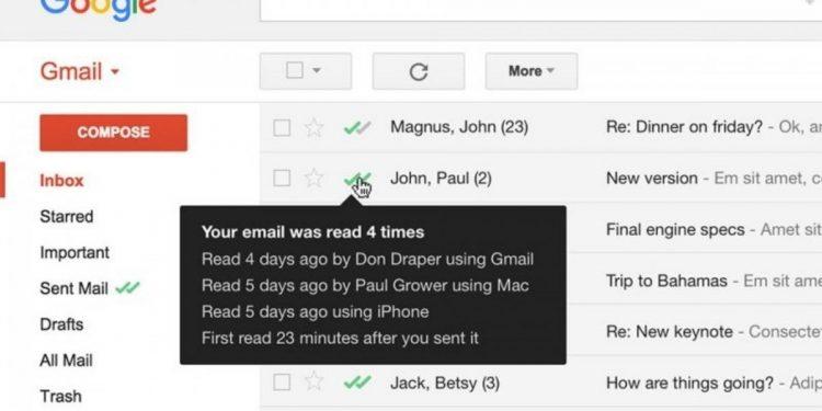 confirmación de lectura en Gmail